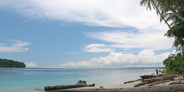 het strand van Rurbas Papua