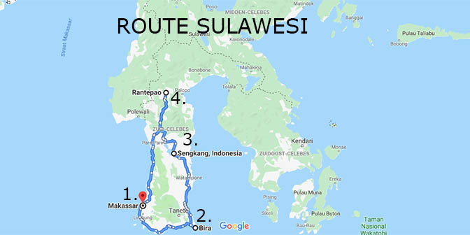 route sulawesi