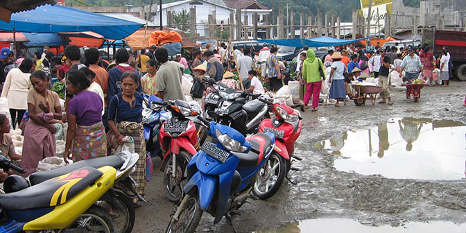 markt rantepao indonesie