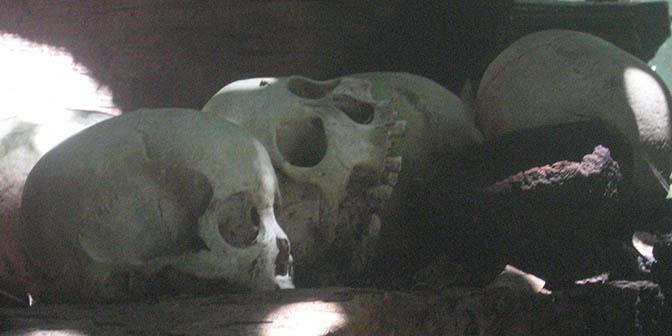 schedel rotsgraf toraja