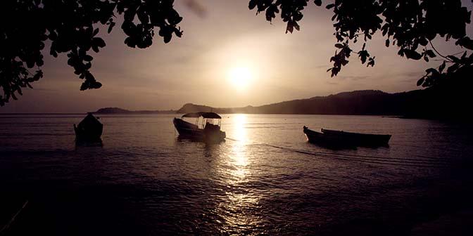zonsondergang strand  pulau weh