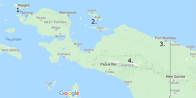 route west papua