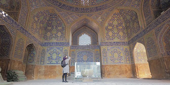 iran vrouw moskee