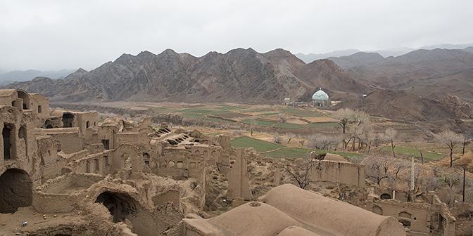 kharanaq in de woestijn