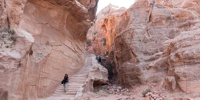 trappen in Petra