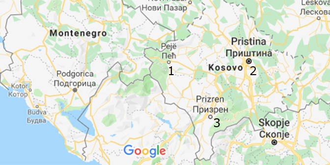 kosovo kaart