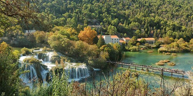 herfst waterval kroatie