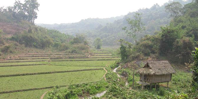 dorp noord laos