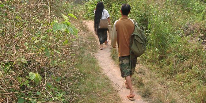 wandelen noord laos
