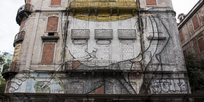 blu street art cromo project