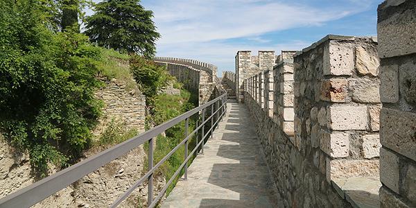 het fort met uiticht over Skopje