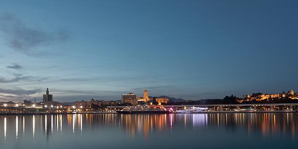 malaga by night