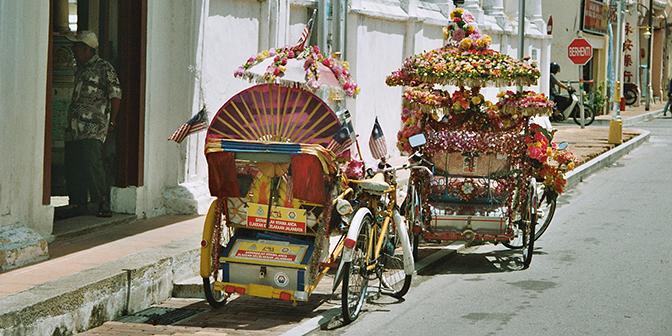fietstaxi malakka maleisie