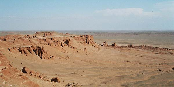 rotsen gobi woestijn