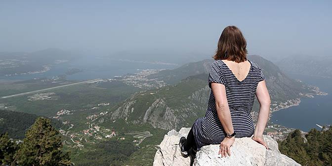 uitzicht baai kotor montenegro