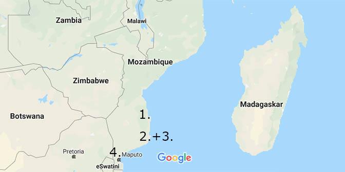 route mozambique vakantie