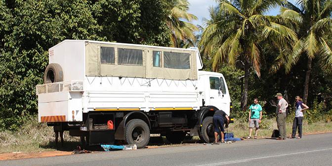 truck mozambique vakantie