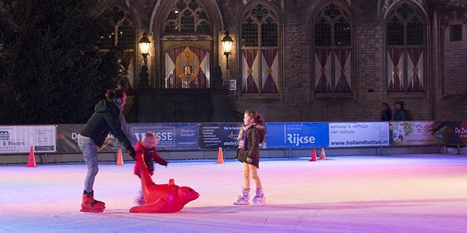 schaatsen markt middelburg