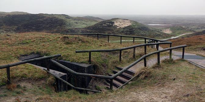 bunker in de duinen texel