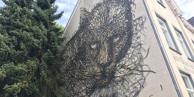zelfportret dal east straatkunst heerlen