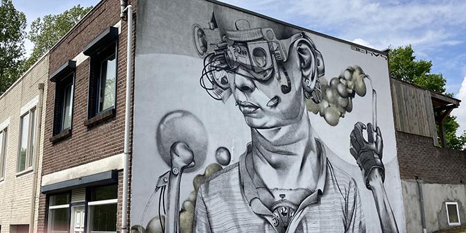 fietsen street art heerlen ethos