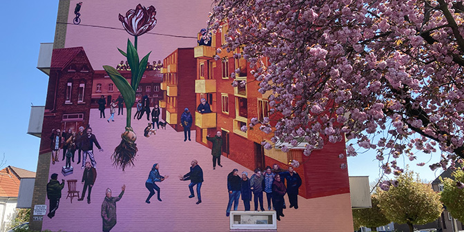 wandelen street art heeren gaia