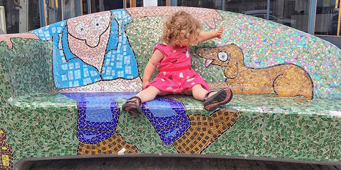 mozaiekbanken kunst heerlen
