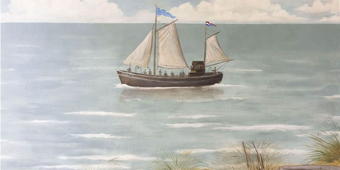 muurschildering scheveningen