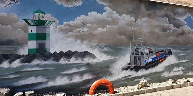 scheveningen street art aan zee