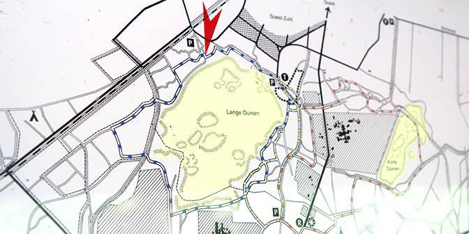 kaart soesterduinen gele wandelroute