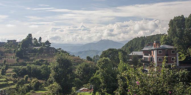 uitzicht bergen nepal