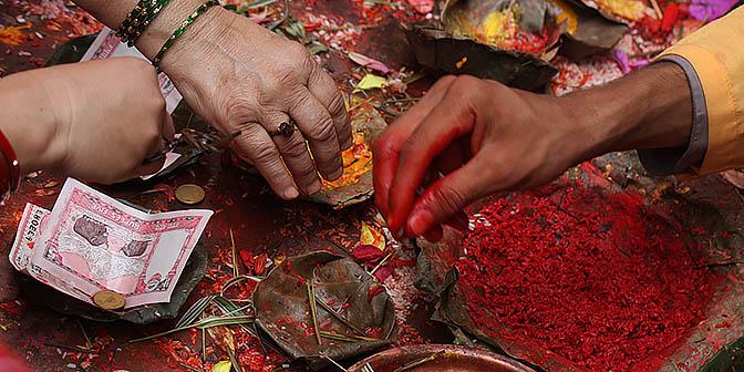 offer tempel kathmandu