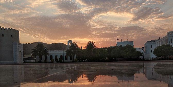 reflectie zonsondergang