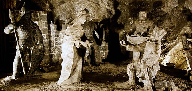 Wieliczka zoutmijn beelden