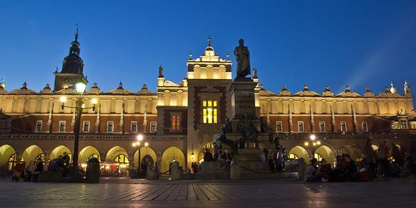 de oude markt van Krakow