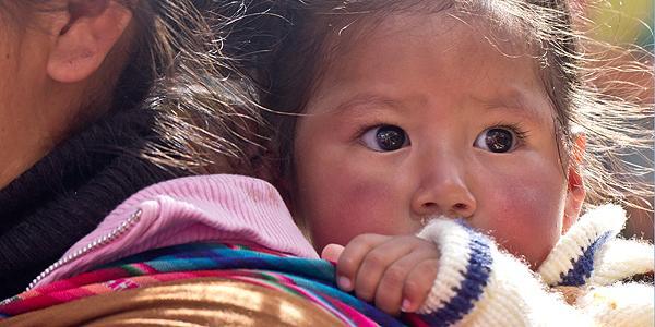 portret van een kind in La Paz