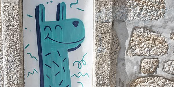 streetart giraffen in porto