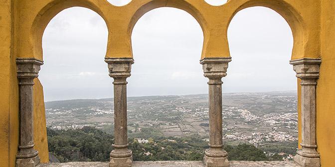 kasteel sintra pena uitzicht