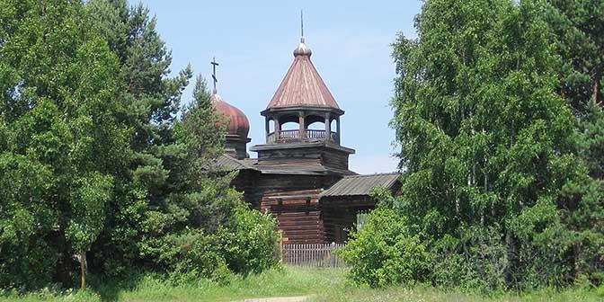 houten kerk rusalnd