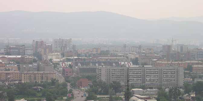 uitzicht over krasnoyarsk
