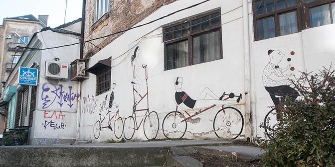 fiets street art