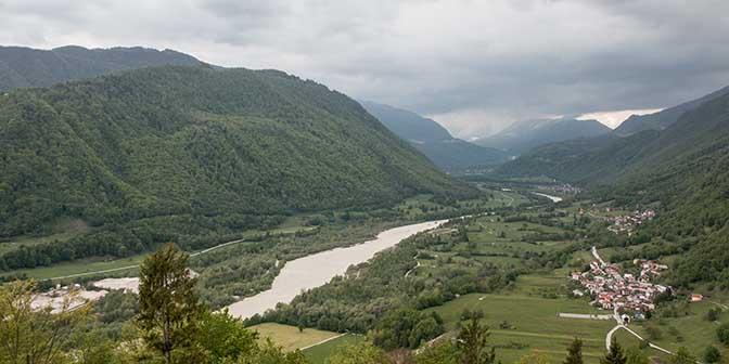 uitzicht soca vallei