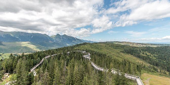 route hoge tatra natuur