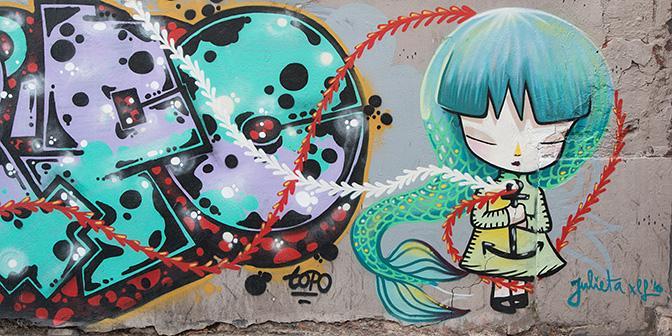 streetart valencia julieta