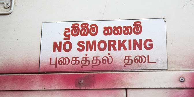 rookverbod trein