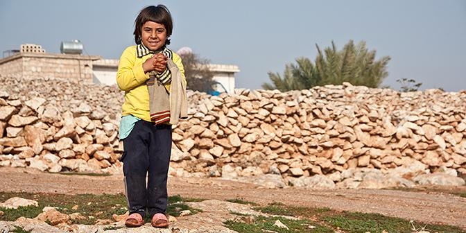kind dorp syrie