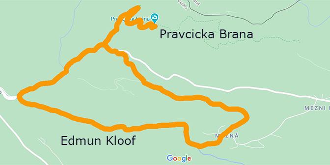 boheems zwitserland wandelroutes kaart