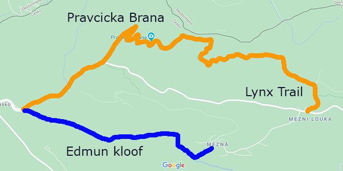 boheems zwitserland kaart wandelen