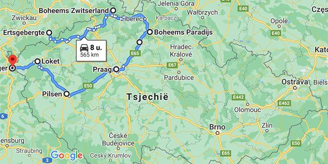 route tsjechie 2 weken