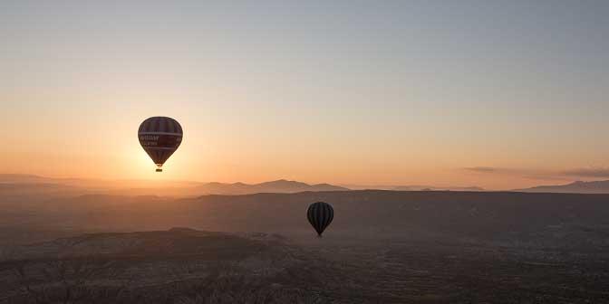 fotografie tegenlicht cappadocie